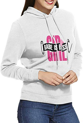 Babe is Boss Woman'S Long Sleeve Unique Fashion Hooded Jackets White