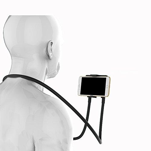 Adonello Lazy Handyhalterung biegbar für den Nacken Hals 360° Halterung Halter Universal für Smartphone Tablets Ebooks Neu
