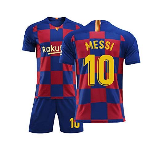 SDSPORT Coppa del Mondo Adulti Calcio Calcio Jersey Set Barcelona Club 10 S. Messi Sportswear T-Shirt