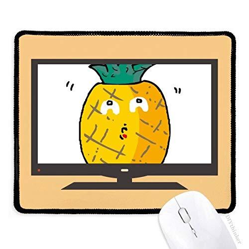 Alfombrilla de ratón Antideslizante de Goma para Ordenador con diseño de piñas y Grafiti, diseño de Frutas y emoticonos