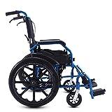 silla de ruedas de Aluminio autopropulsada Ancho del Asiento de 18 Pulgadas Asistente Plegable Ligero Asientos para Correr Reposapiés extraíbles A Prueba de pinchazos con Soporte para Las piernas