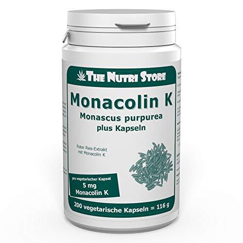 Monacolin K 5mg plus Kapseln 200 Stk. - vegetarisch - Rotfermentierter Reis