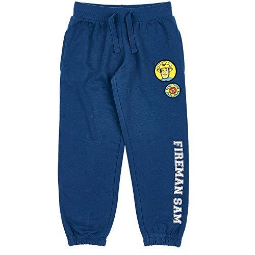 Auswahl Jogginghose | Feuerwehrmann Sam | Größe 98-128 | Kinder Freizeit Hose, Größe:116, Farbe:Blau