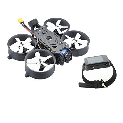 FullSpeed 4K TurboWhoop Brushless FPV Racing Drohne Quadrocopter 1104 5500kv BNF 2-4S CineWhoop mit Crossfire Nano RX FPV Uhr