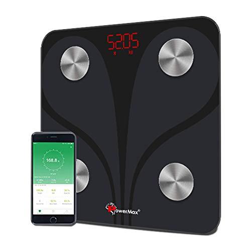 PowerMax Fitness® Bluetooth Body Fat Scale - Smart BMI...