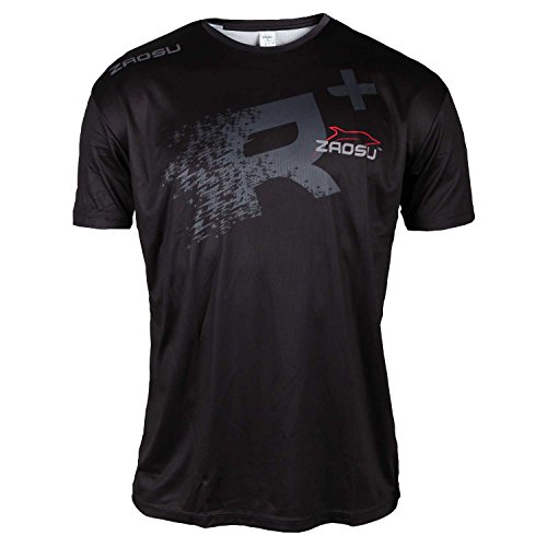ZAOSU Fonction T-Shirt de Course à Manches T-Shirt Logo, XXL