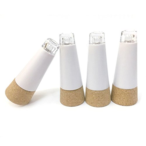 Goswot Pack of 4 USB Rechargeable Cork Shape Bottle Light 12 Lumens Durable Lamp Cork Lights for Christmas Party Decoration