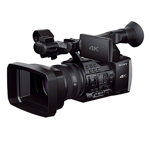 Sony FDR-AX1EB 4K ultra HD-camcorder (G-lens met 20x zoom, 8,9 cm (3,5 inch) LCD-display, beeldstabilisator, elektronische zoeker, 2XQD-geheugenkaartsleuven 3 ND filter Zebra) zwart