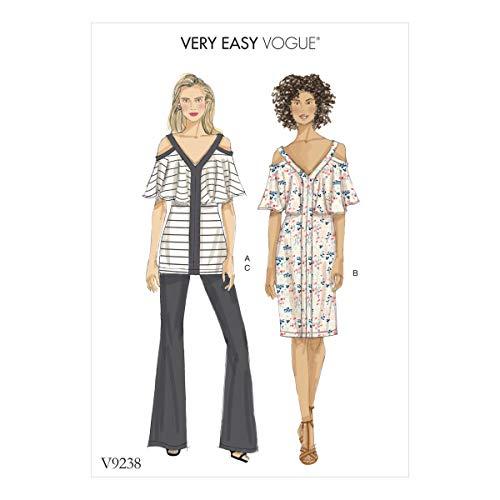 Vogue Patronen mist Top Jurk en Broek, Tissue, Multi-Colour, 15 x 0.5 x 22 cm