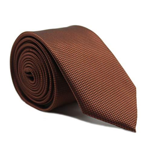 Captain Krawatte schmal Braun uni-farben | 6cm breit handgefertigt in Geschenk-Box | Krawatte elegant geeignet für Designer Hemd Anzug Business | Geschenk für Herren