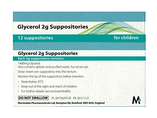 Childrens Glycerin (Glycerol) Suppositories - 12