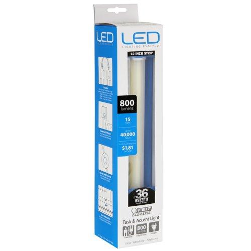 Feit Electric 72060 11.5 Watt 900 Lumen 12 Inch Linkable Under Cabinet LED Light Fixture, 4100k Cool White
