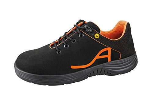 7131050 ESD - Zapatilla deportiva, color negro/naranja neón, 36