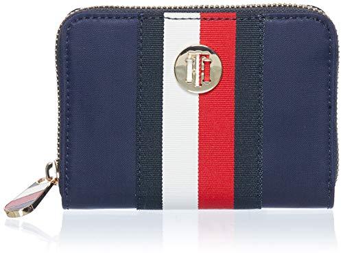 Tommy Hilfiger Damen Geldbörse Portemonnaies Poppy M Zip Blau AW0AW08370-0GY