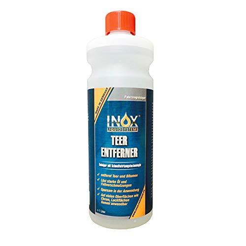 INOX® Auto Teerentferner 1L - Teerreiniger für Innenraum und Außen - Klebstoffentferner Baumharzentferner - Industriereiniger schonend zu Autolack und Chrom