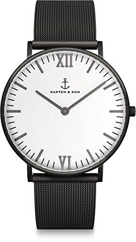Kapten & Son Unisex-Uhren 40 Schwarz 32005334
