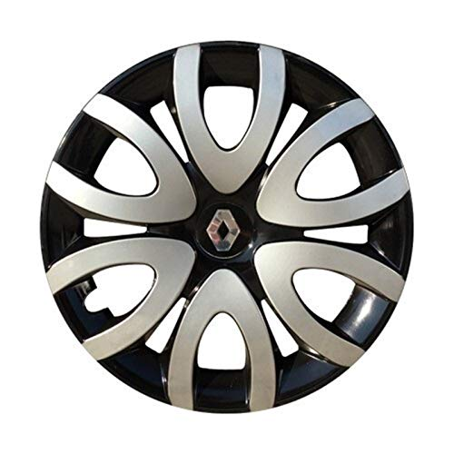 HUANGRONG para Clio R15 4 ABS inquebrantable PLÁSTICO DE PULLAS DE PULLIDAD DE 15 'Pulgadas 4 PCS Universal Coche Tapacubos