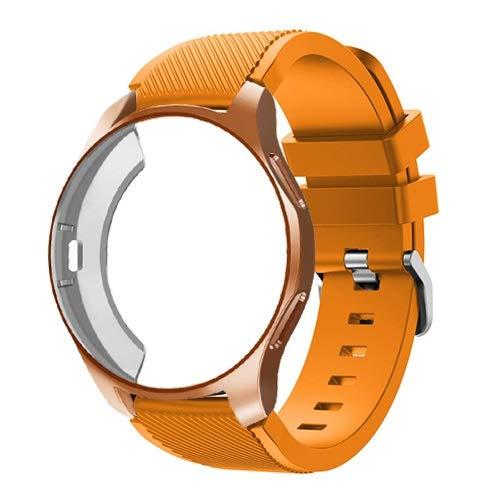 HGGFA Funda 2 en 1 y correa para Samsung Galaxy Watch 46 mm S3 para Huawei Watch GT 2 de 46 mm de banda de reloj de protección completa (color: 2, tamaño: Gt 2 46 mm)