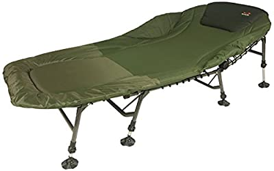 TF Gear Carp Fishing Bedchair Chill out GIANT 4 leg Bed Chair Fully Padded with Adjustable Legs from TF Gear