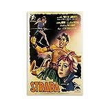 CXVB La Strada Vintage Anthony Quinn Movie Poster Leinwand