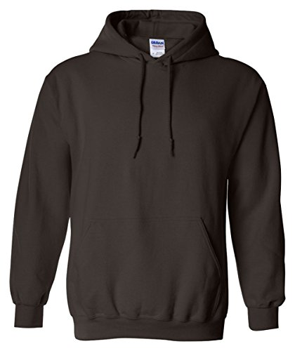 Gildan Men's Heavy Blend Hooded Sweatshirt Dark Chocolate L