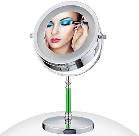 Mirrors Bathroom Vanity Magnifying Makeup With Stand, Double Sided 3x/1x Magnification Tabletop