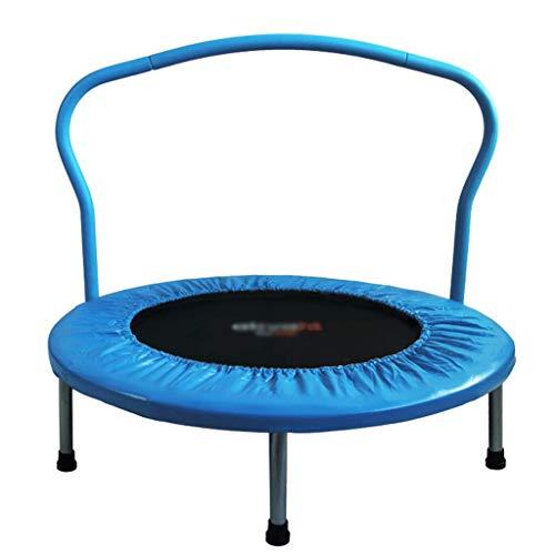 Trampolín De Fitness Para Adultos Trampolín Bungee Rebounder Workout Pasamanos Ajustable 50 Pulgadas Ejercicio Corporal Para Juegos En Interiores Y Exteriores Cardio Trainer Límite Máximo (Color:blue)