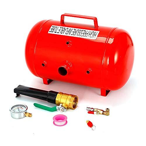 SHIOUCY Bomba de Aire del neumático 40L, Compresores de Aire portátiles Inflador de neumáticos Relleno de Choque Cañón de Aire Soporte de llenado Ayuda