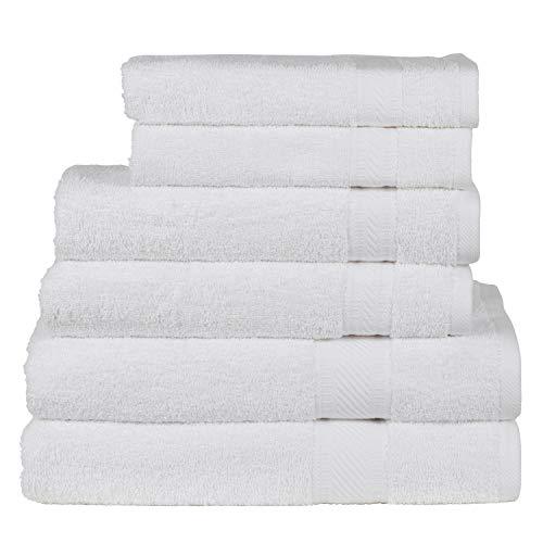 SweetNeedle - Uso diario Juego toallas 6 piezas, Blanco