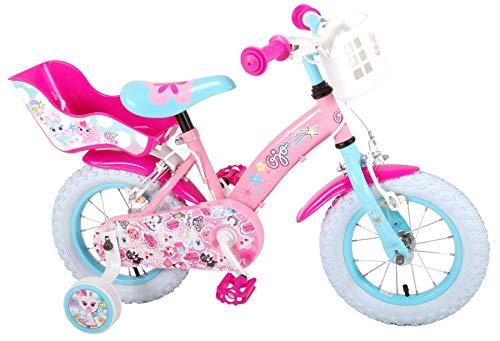 OJO Kinderfiets - Meisjes - 12 inch - Roze - 2 handremmen