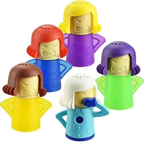 YoukCDT - 5 pulitori per microonde con scritta 'Angry Mama' per frigorifero e frigo, assorbitori di odori e congelatori, ad azione rapida, per la casa, pulisce facilmente il vapore in pochi minuti