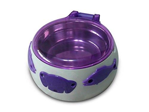 Aquarialand 13.1.79.001 Magic Dog Box für Hunde mit automatischer Öffnung mit 5 Sensen, 17,5 cm Ø, 8 H cm, weiß und violett