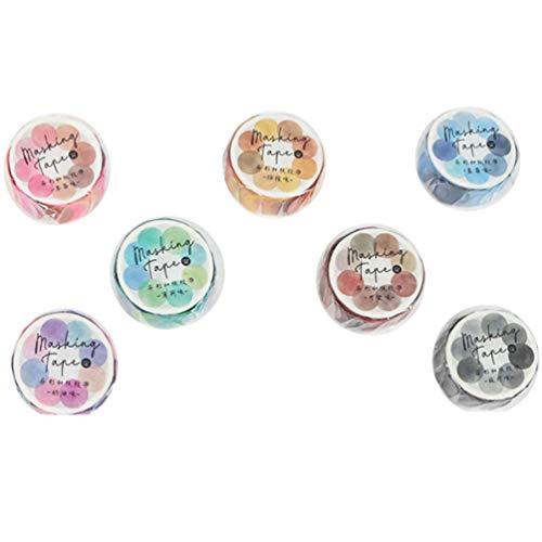 Tomaibaby 700 Stück Dot Washi Tape Rollen DIY Craft Tape Aufkleber Papier Masking Tape Geschenke für Umschlag Siegel Scrapbooks Notizbücher Tagebücher Dekoration