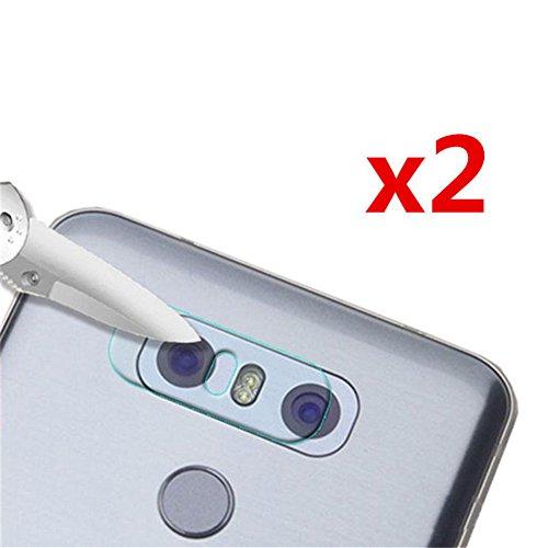 Interesting® 2PCS 7.5H Transparente Lente de cámara Trasera Dura película Protectora de Cristal templada del Protector para LG G6