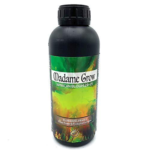 MADAME GROW   Concime Organico Fioritura- Nutrienti per la fioritura Jamaican Bloom 28-25 Concentrato di fosforo e potassio 28-25, con molibdeno moltiplica Il Numero di Fiori (1 L)