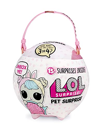L.O.L. Surprise! 552246PE7C Biggie Pet Sammelfigur Tier mit Accessoires, 15 Überraschungen