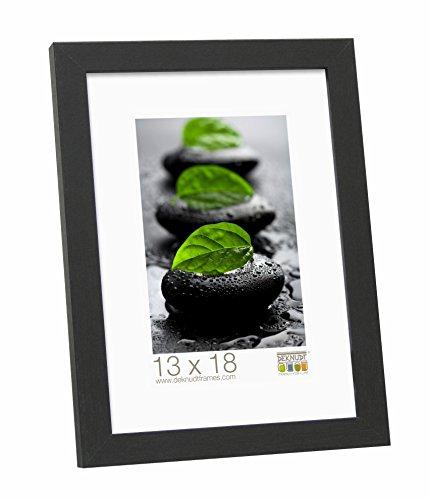 Deknudt Frames S44CF2 Basic Cadre Photo Bois/MDF Noir Fin 40 x 60 cm