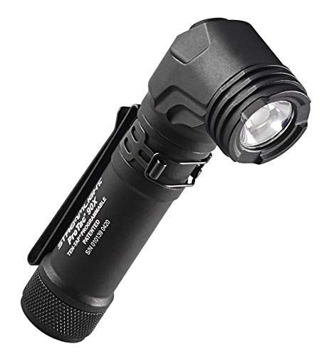 Streamlight ProTac 90X Right Angle Multi-Fuel Tactical Flashlight with USB Cord and Holster, Black