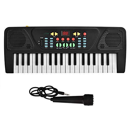 Kinder E-Piano 37 Schlüssel Puzzle elektrische pädagogische Klaviertastatur Digital Instrument Spielzeug mit Mikrofon für 3-12 Jahre alt