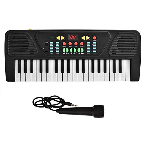 Piano eléctrico para niños, 37 teclas, rompecabezas, instrumento eléctrico, teclado de piano,...