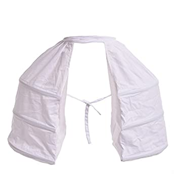 Blessume Victorian Dress Double Pannier Petticoat White One size