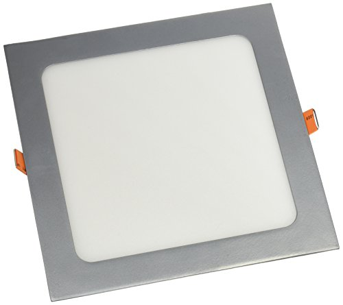 LYO Downlight LED Empotrar Cuadrado Integrado, Gris, 22.4x22.4 cm