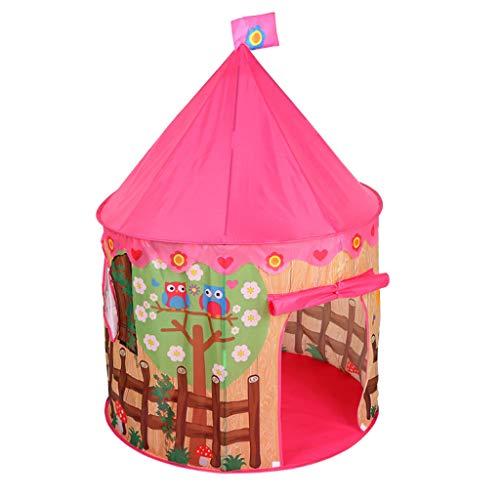 Sxmy Tienda de campaña para niños princesa interior mosquitero de impresión yurta juego de juguete de flor y pájaro cerca del océano bola piscina