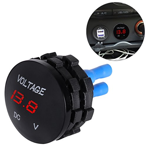 WINOMO Voltímetro Digital coche Universal Voltage Meter para DC 12V-24V Motorcycle Auto