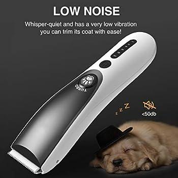 FiveHome Tondeuse Chien Chat Tondeuse Animaux, électrique Animaux Tondeuse sans Fil Rechargeable Rasoir Faible Bruit