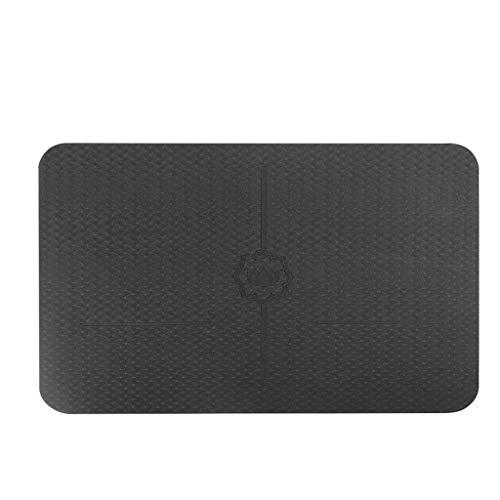 SLL- Yoga Mat Femminile ampliato addensata Beginner Yoga Sport Coperta Allungato Antiscivolo Fitness Home Mat Mat Fitness Addensare (Color : Black, Size : 60 * 40cm)