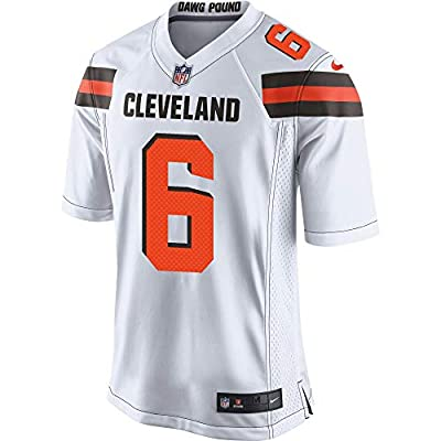 Nike Men's Cleveland Browns White Baker Mayfield Game Jersey (Large)