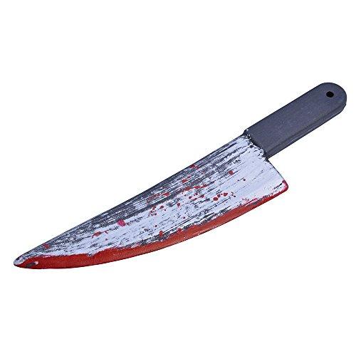 Bristol Novelty BA490 Blutiger Messer, Rot, unisex-adult, grau, Einheitsgröße