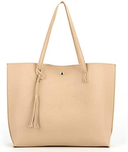 Nodykka Women Tote Bags Top Handle Satchel Handbags PU Faux Leather Tassel Shoulder Purse product image