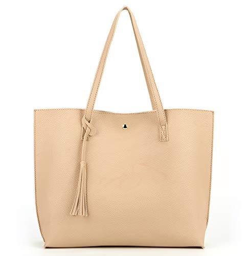 Nodykka Women Tote Bags Top Handle Satchel Handbags PU Pebbled Leather Tassel...